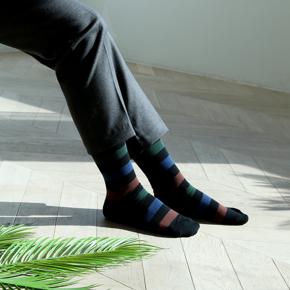 SSTZ Border Stripe : forestSOCKSTAZ