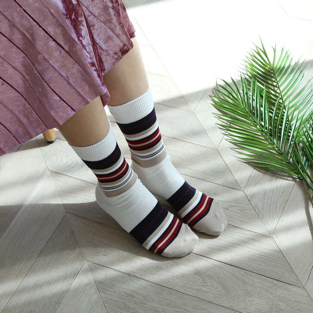 SSTZ Multi Stripe : heatherSOCKSTAZ