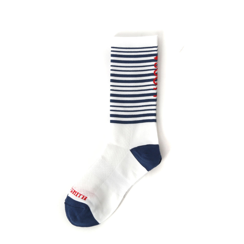 Pedaler Crew Socks: StripedSOOTY SMITH