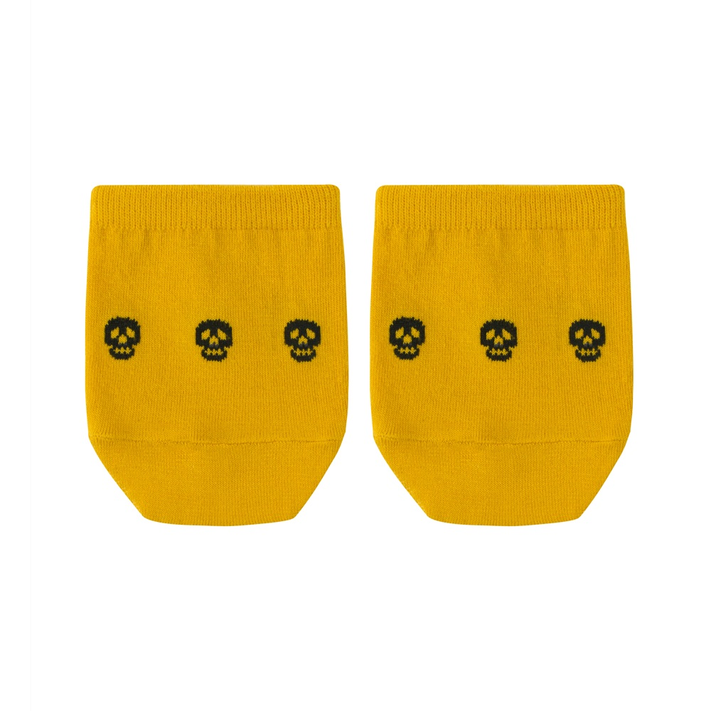 SAP GIVE skull yellowSocks Appeal