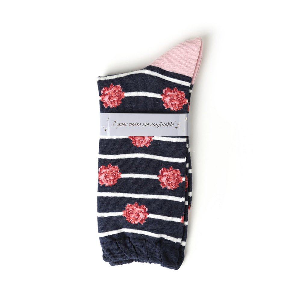 TKN060 Small Rose Stripe : navyTOKYO NOW
