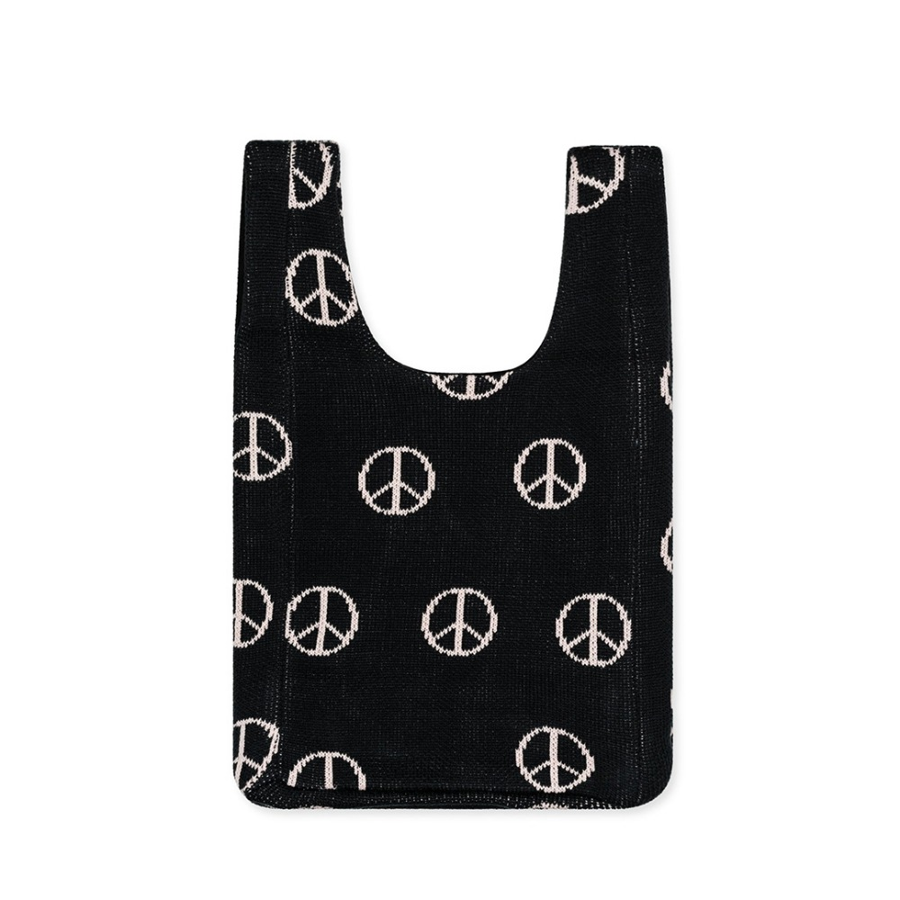 HFB176 Peace Mini Shopper Bag : CharcoalHANSEL FROM BASEL