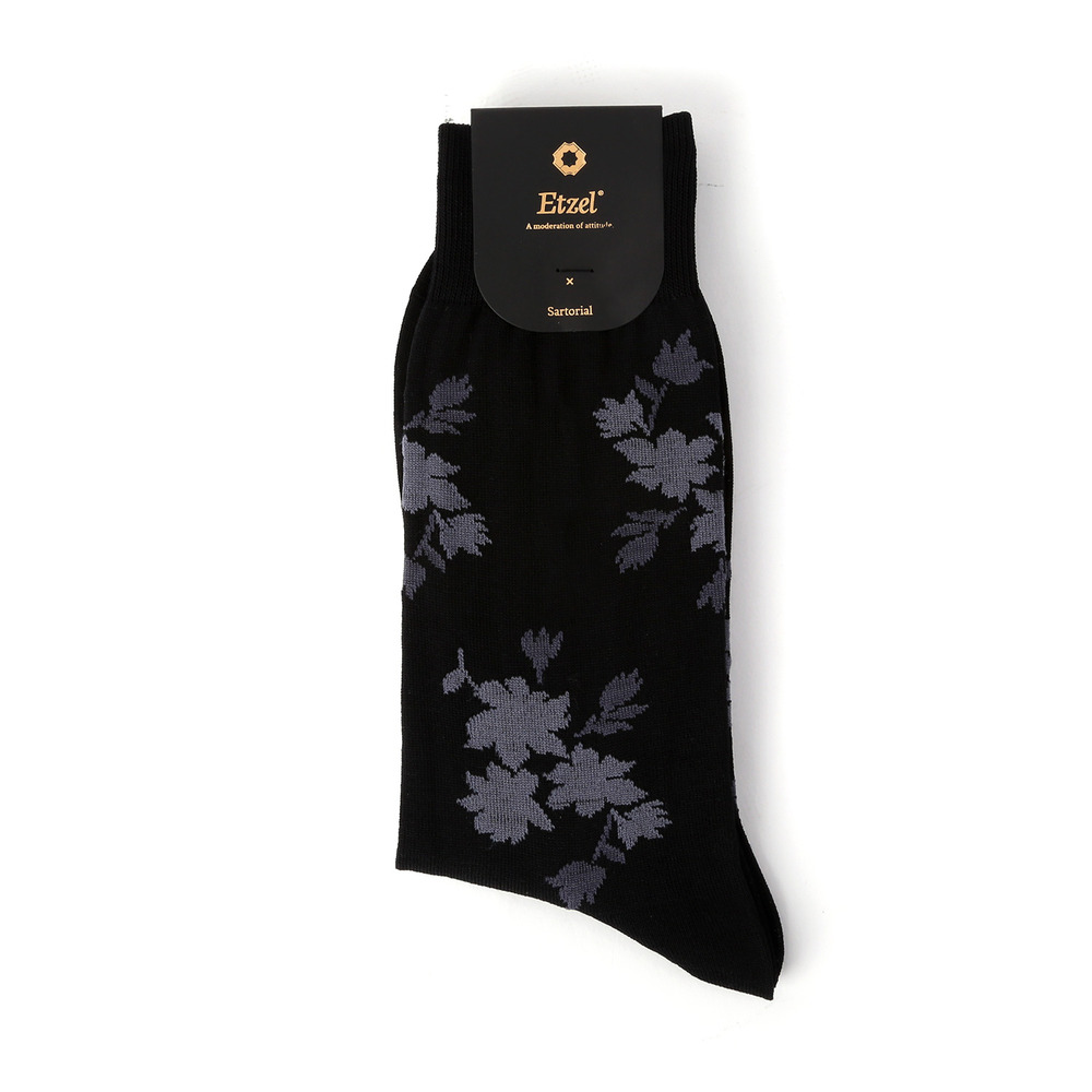 ETS004 Sartorial: Flower Dress Socks (2colors)Etzel