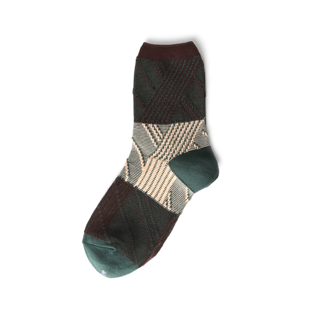TMO074 Telegraphy 3/4 socks : inverted pyramid10MORE