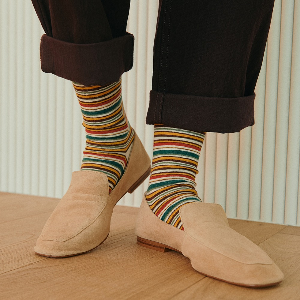 STW022 Multi Stripe : SunsetBY SOCKSTAZ