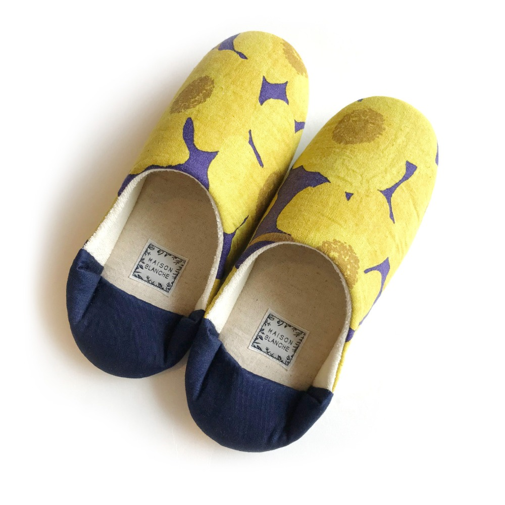 MSB199 Room Shoes : yellow flowerMAISON BLANCHE