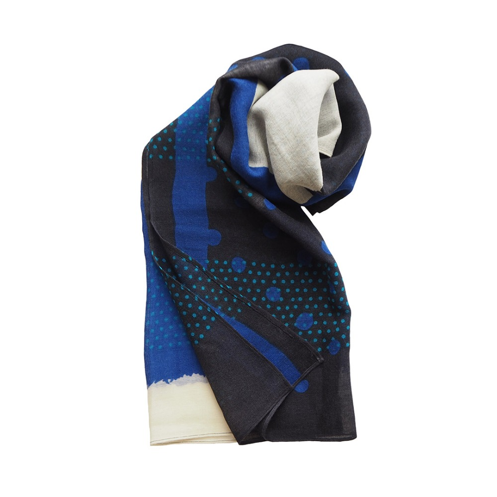 MSB257 India Wool Scarf 04 Present (2colors)MAISON BLANCHE