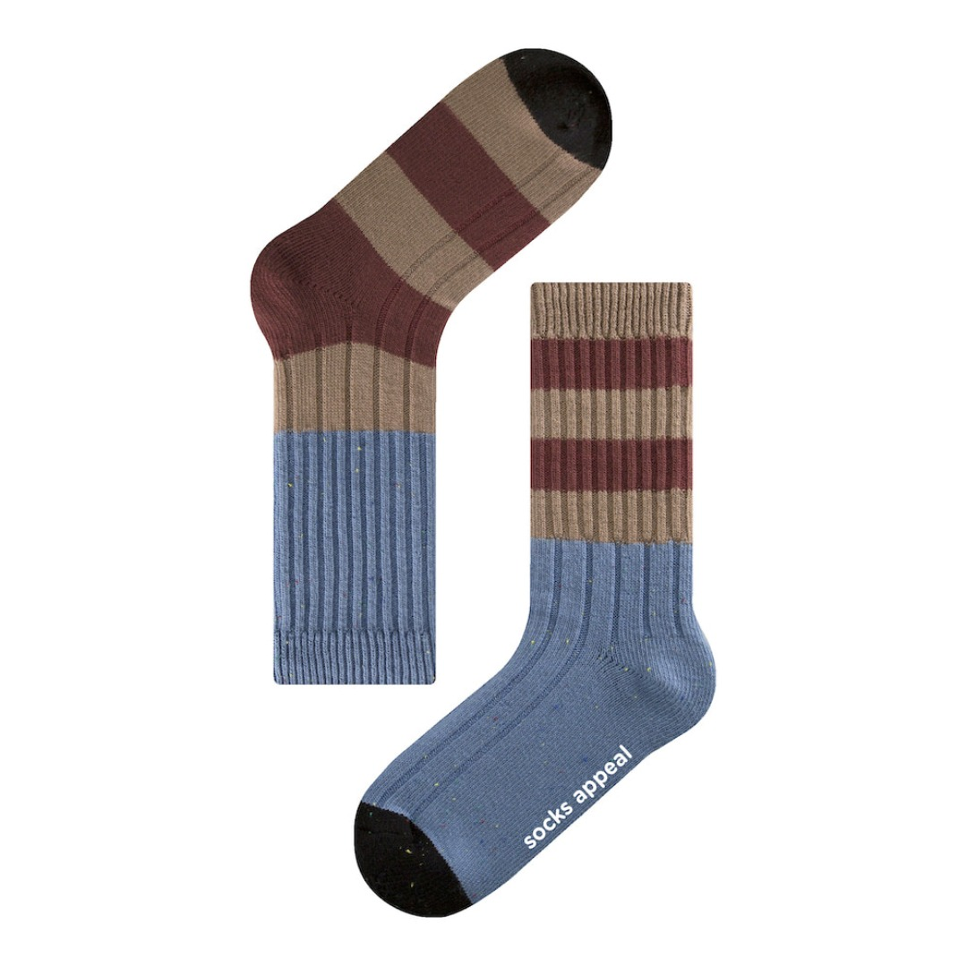 SAP812 reverse stripe blue skySocks Appeal