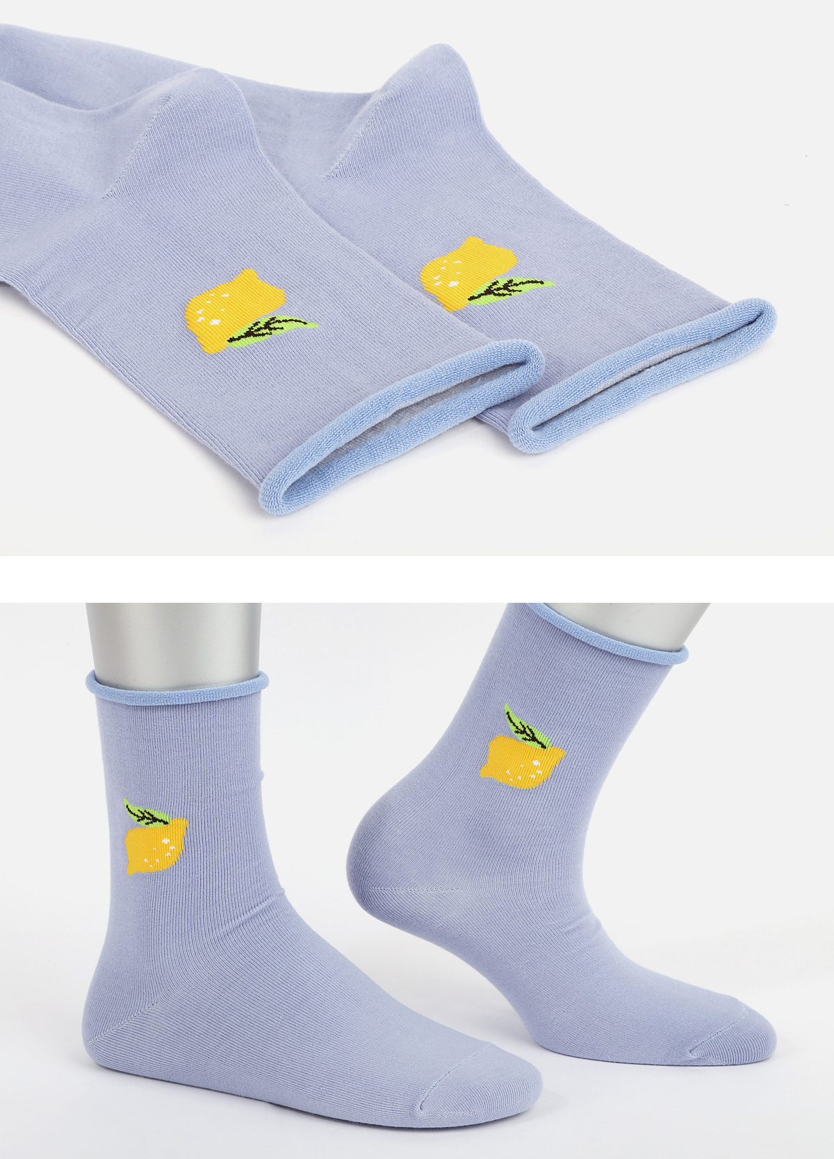 SSTZ ROLLTOP LEMON socks