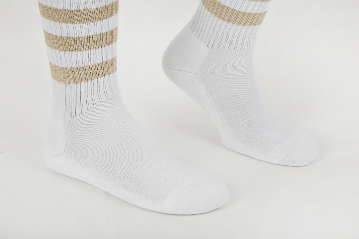 SSTZ METALIC SKATER STRIPE WH socks