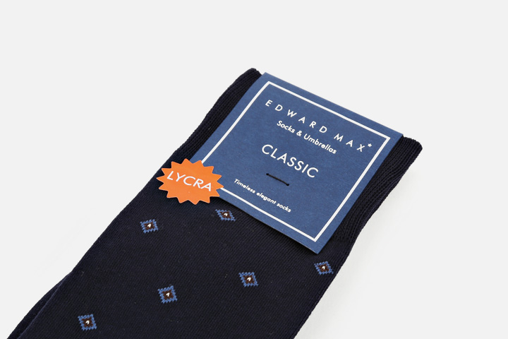 (Classic) Diamond Navy socks