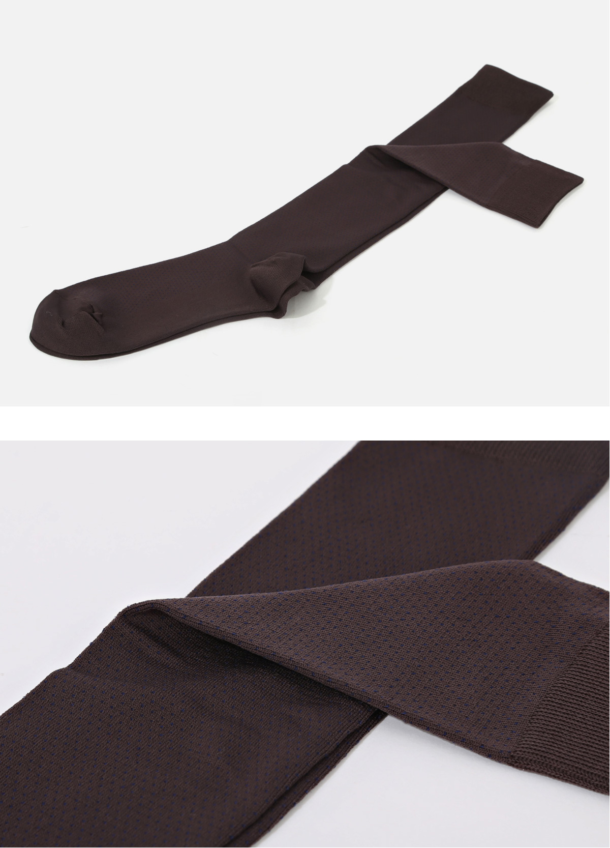 (Classic) EMC-LONGHOSE(D4) Dot Brown socks