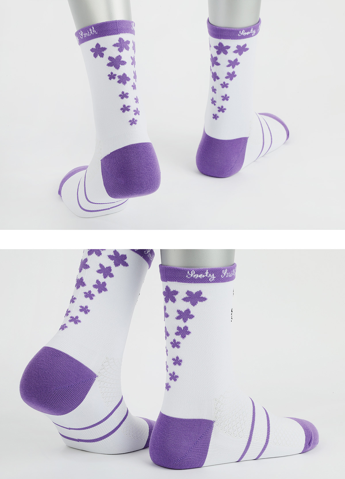 (women only) Pedaler Crew Socks: Elegant socks