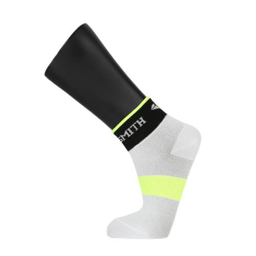 Pedaler Low-cut Socks: White-Neon