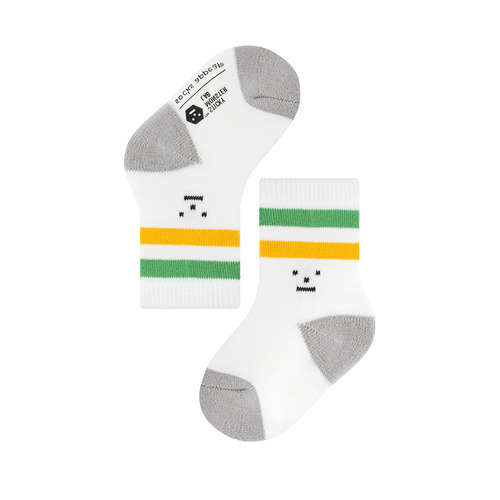 SML X socks appeal: baby 2 stripe green and yellowSocks Appeal