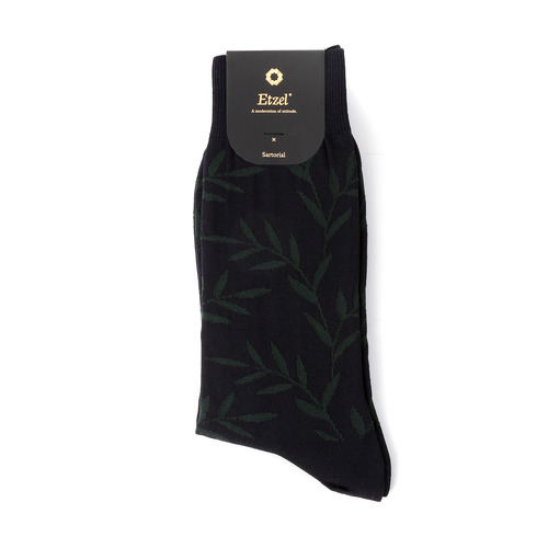 ETS007 Sartorial: Leaf Dress Socks (2colors)Etzel