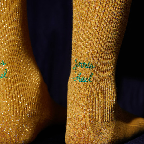 [NEUL X Socks Appeal] ferris wheel (gold)Socks Appeal