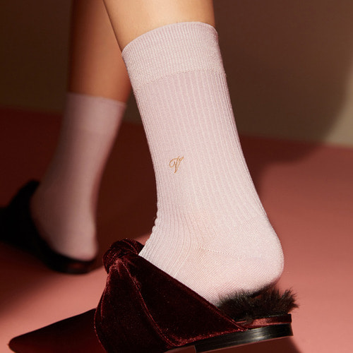 [Viaplain x Socks Appeal] silky socks, lavenderSocks Appeal