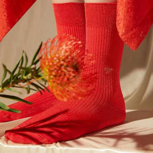 [Viaplain x Socks Appeal] silky socks, redSocks Appeal