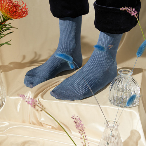 [Viaplain x Socks Appeal] silky socks, smoky blueSocks Appeal