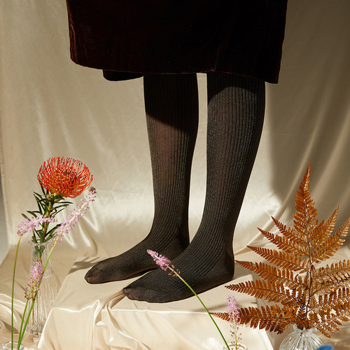 Silky Tights : Khaki BrownSocks Appeal