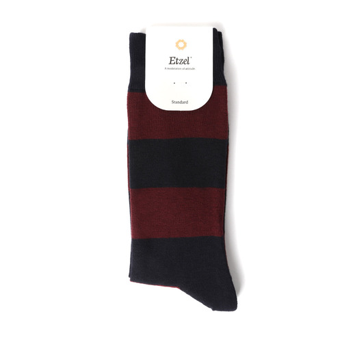 ETZ008 STAY UP Rugby Stripe : Navy/WineEtzel