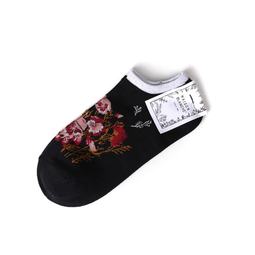 MSB011 Sneakers Flower : blackMAISON BLANCHE