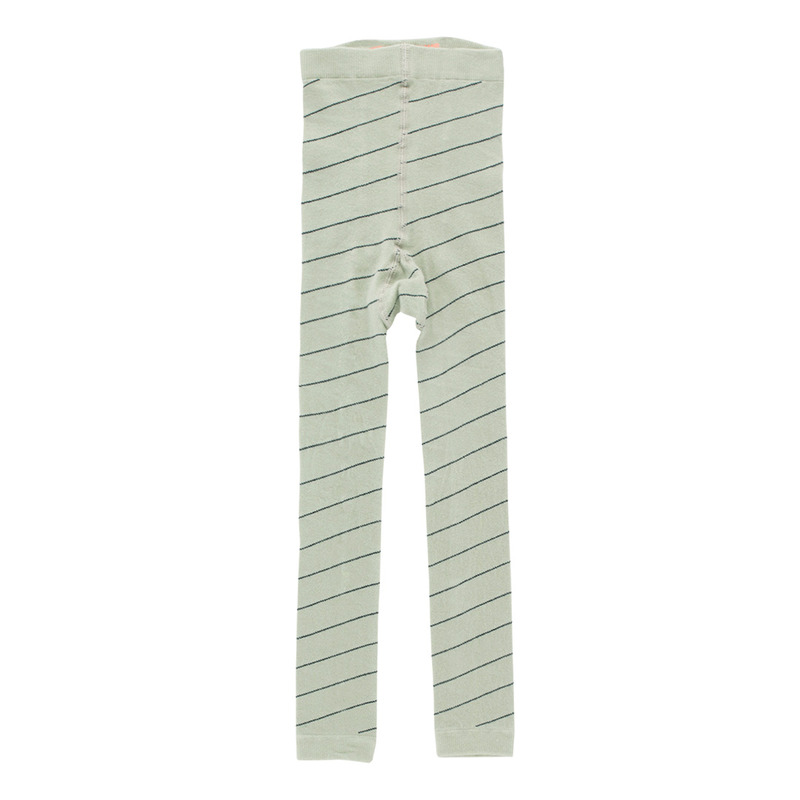 TNC032 Diagonal stripes leggings : pistacho/navyTINY COTTONS