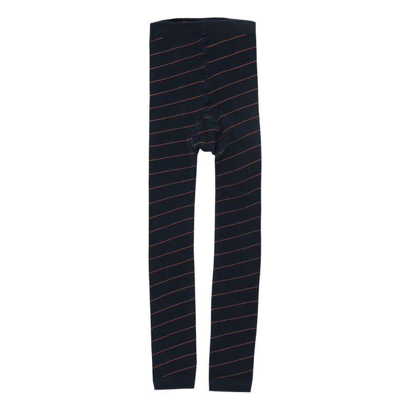TNC031 Diagonal stripes leggings : navy/redTINY COTTONS