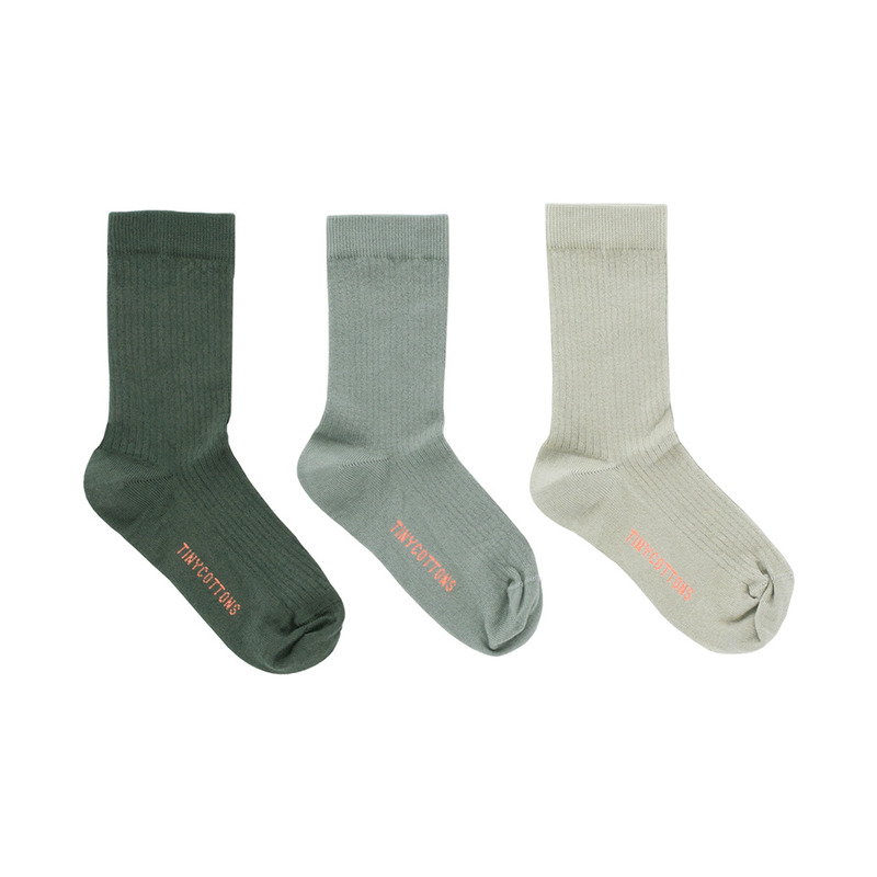 TNC025 Pack of 3 medium socks : greenTINY COTTONS