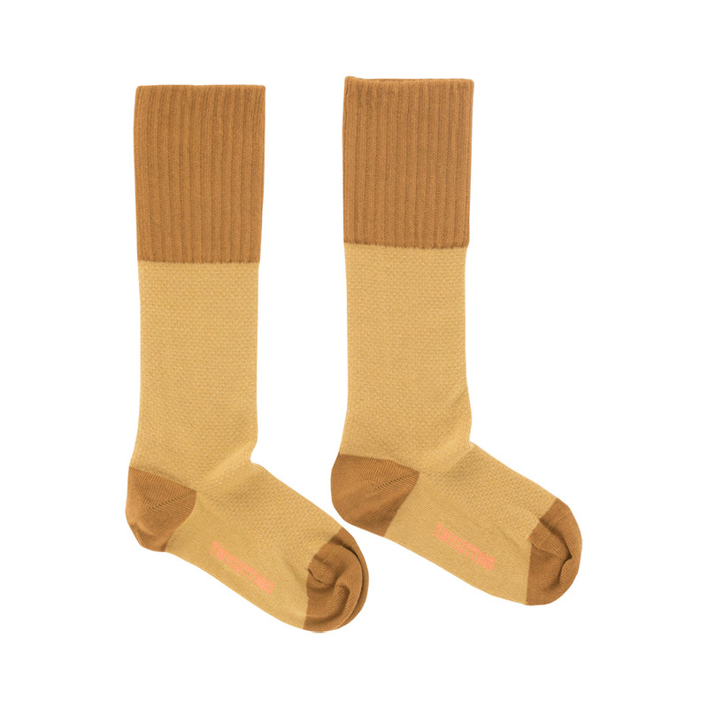 TNC015 Rice loop high socks : sand/mustardTINY COTTONS