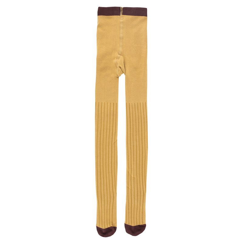 TNC036 Stripe tights : mustard/sandTINY COTTONS