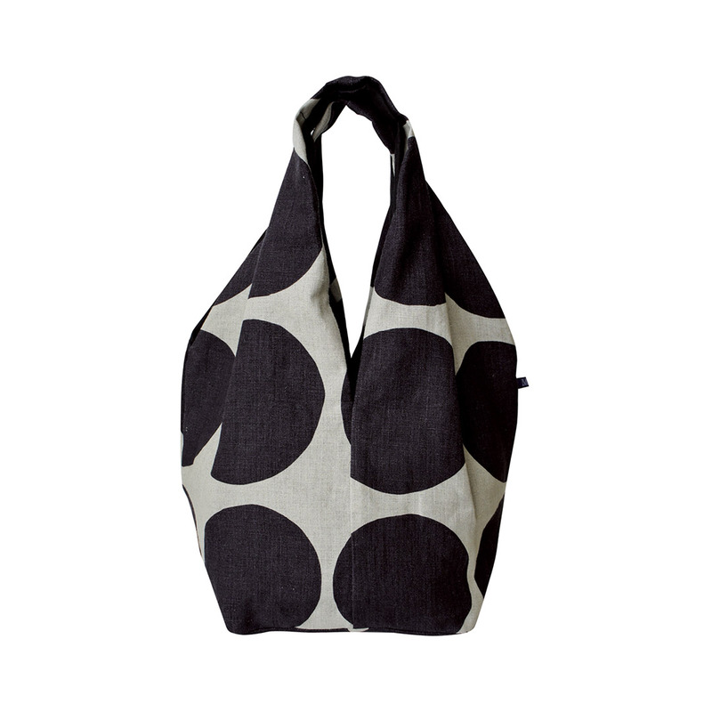 MSB059 Square Linen Bag 05 : blackMAISON BLANCHE