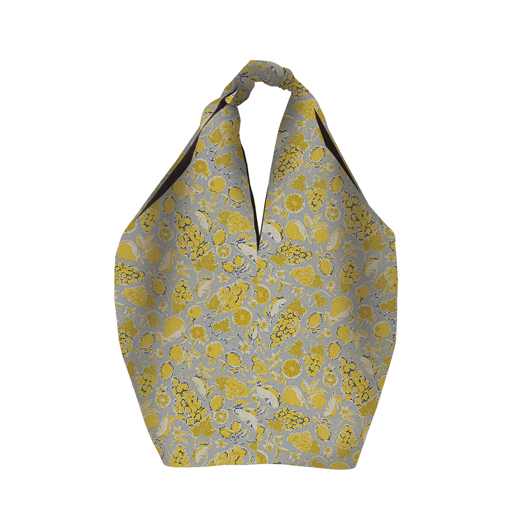 MSB105 Square Linen Bag 11 : Fruit yellowMAISON BLANCHE