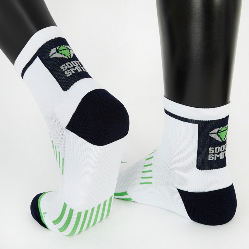 (for Men) Pedaler-Quarter (Cycling Socks): Green