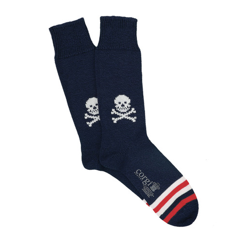 CGI050 Pure Heavy Cotton Skull : Navy-redCORGI