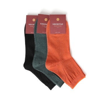 STB013 Pearl See-through Ankle Socks (3colors)SOCKSTAZ