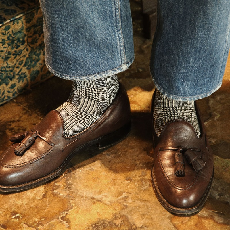 ETS008 Sartorial: Glen Check Dress Socks (3colors)Etzel