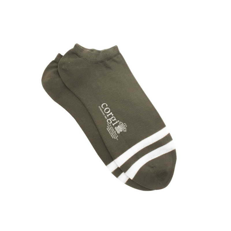 CGI052 Striped Toe Trainer Socks (3colors)CORGI