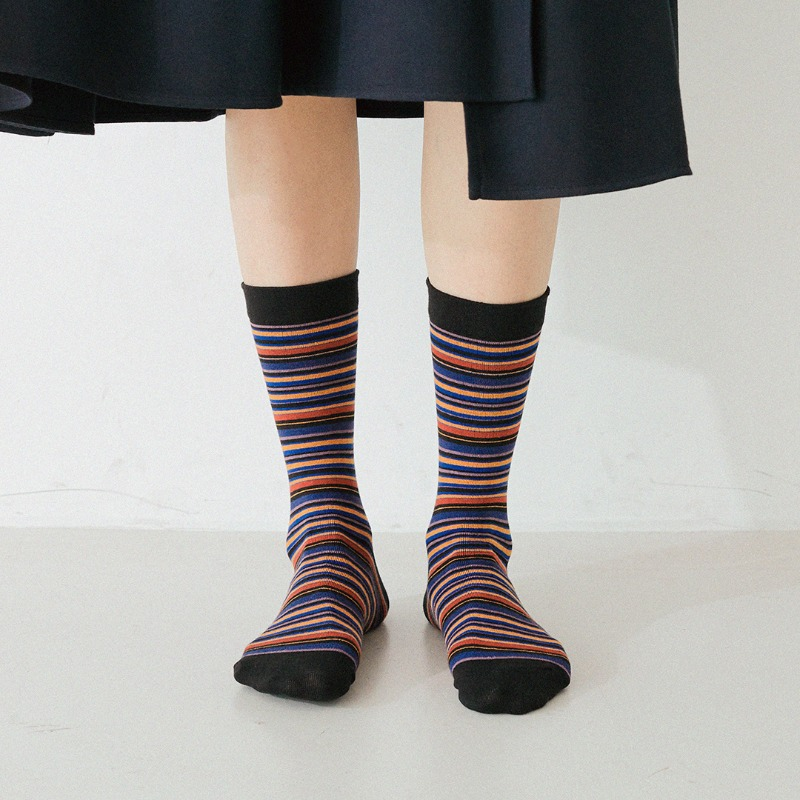 STW023 Multi Stripe : NightBY SOCKSTAZ